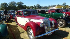 MG Car Club Illawarra Register at the 2017 All British Day