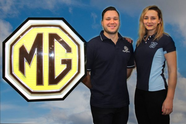 MG Car Club Sydney Sky Blue Polo Shirt