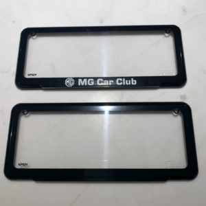 MG Car Club Historic Number Plate Covers
